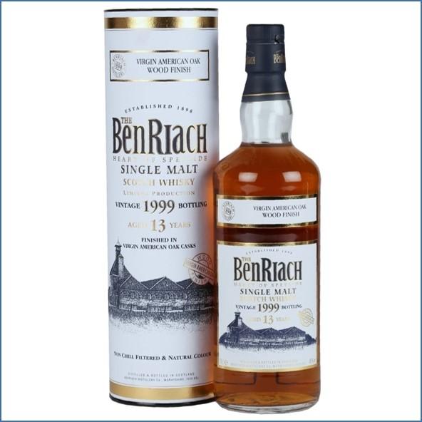 Benriach 1999  13 Year Old Virgin Oak Finish 70cl 46% 班瑞克1999/13年  美國新桶換桶
