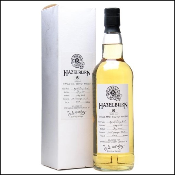 Hazelburn 8 Year Old 1998 Cask Strength Campbeltown Single Malt Scotch Whisky 70cl 58.7%