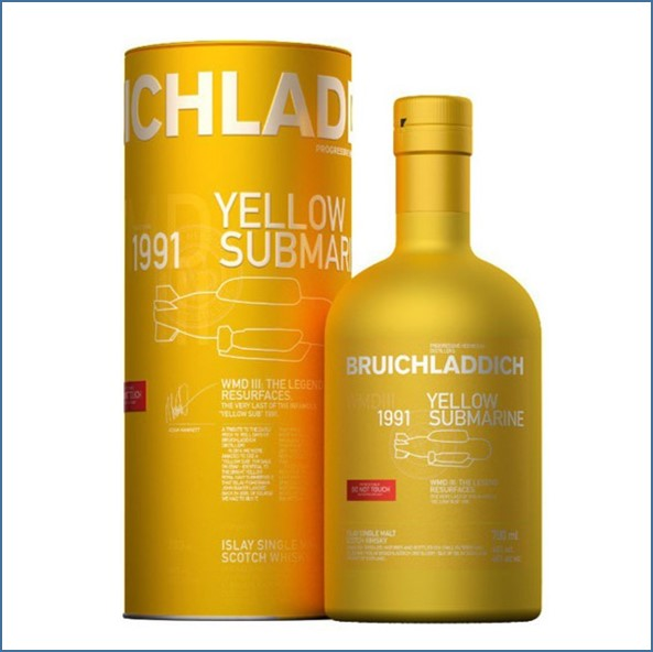 Bruichladdich 25 Year Old 1991 2018 Yellow Submarine WMD III - 1.991 Flaschen