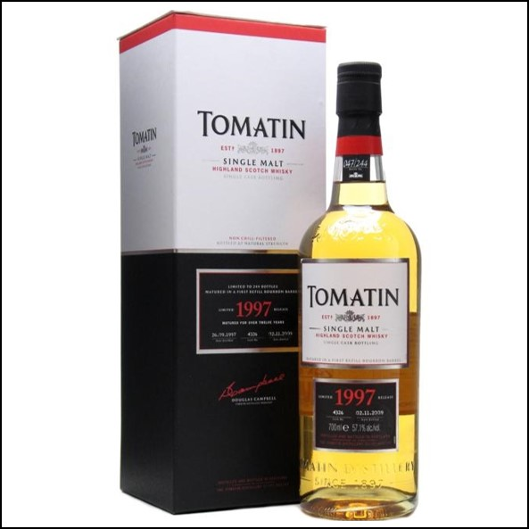 Tomatin 1997 12 Year Old Cask #4326 70cl 57.1%