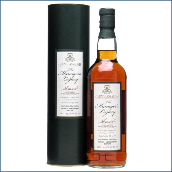 Glenglassaugh 1986 Manager's Legacy Dod Cameron 2010 Highland Single Malt Scotch Whisky 70cl 45.3%