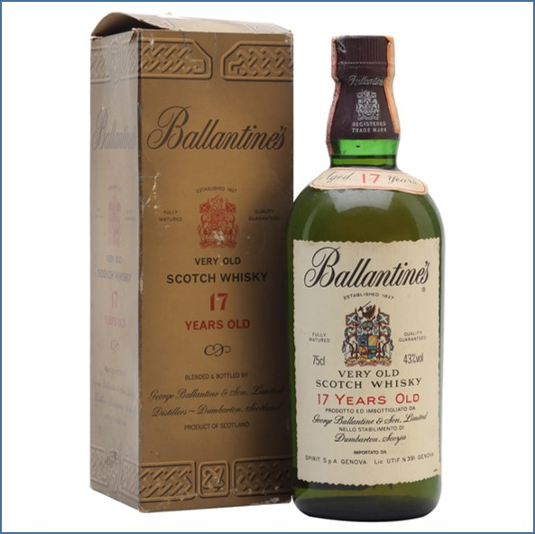 Ballantine's 17 Year Old Bot.1970s Blended Scotch Whisky 75cl 43%