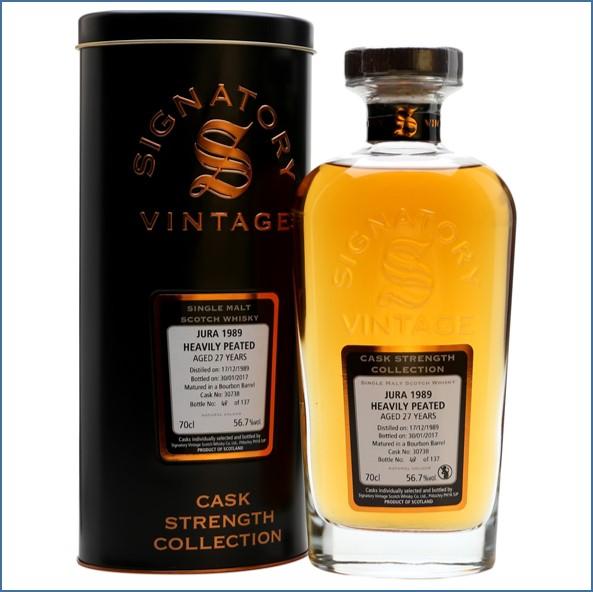 Isle of Jura 1989 27 Year Old Signatory Island Single Malt Scotch Whisky 70cl 56.7%