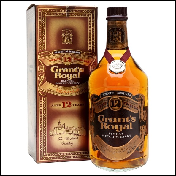 Grant's Royal 12 Year Old Bot.1980s Blended Scotch Whisky 75cl 40%