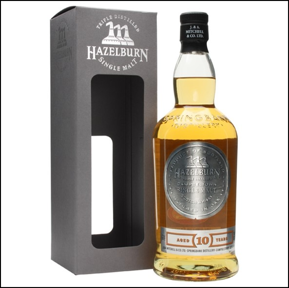 Hazelburn 10 Year Old Campbeltown Single Malt Scotch Whisky 70cl 46%