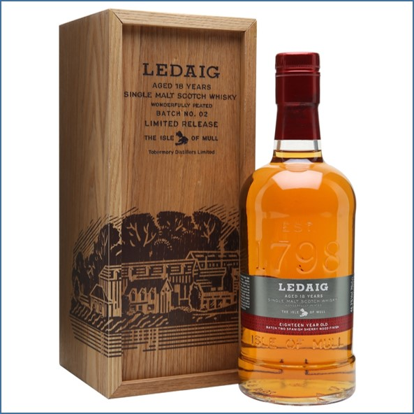 Ledaig 18 Year Old Batch 2 Sherry Finish 70cl 46.3%