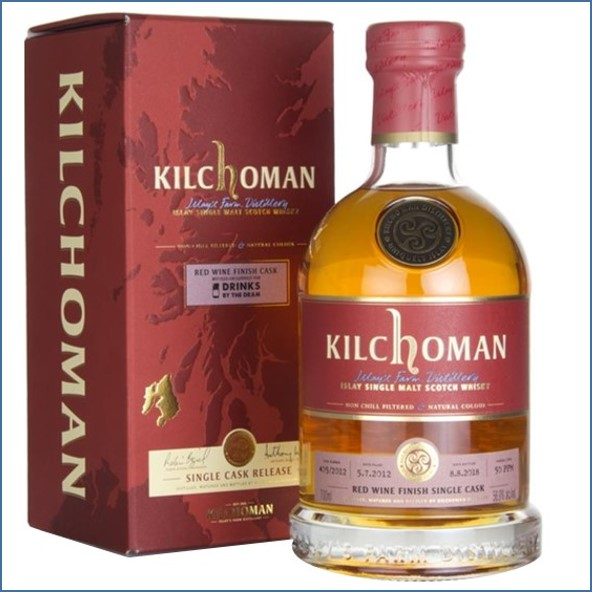 Kilchoman 2018 6 Year Old Red Wine Cask 2012 70cl 56.9%