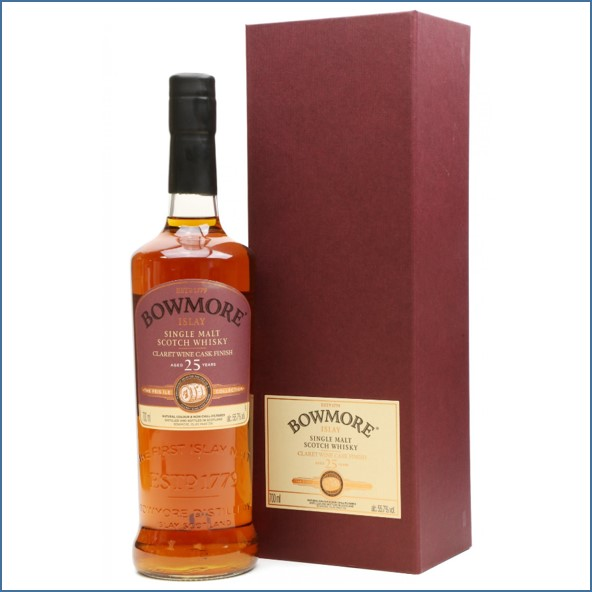 Bowmore 25 Years Old 1990 - Feis Ile 2016 - Claret Wine Cask 70cl 55.7%