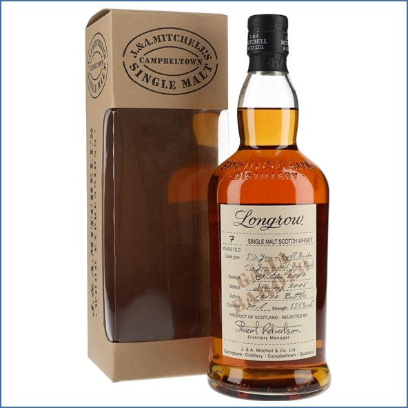 Longrow 7 Year Old 2000-2008 Barolo Wood Finish Campbeltown Single Malt Scotch Whisky 70cl 55.8%